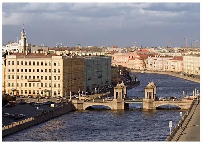 Фото 1. Набережная реки Фонтанки в районе улицы Ломоносова.